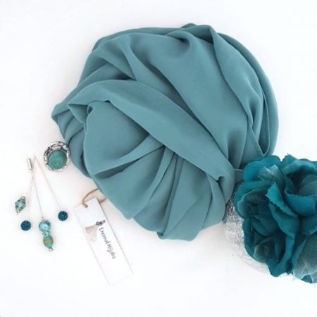 chiffon Hijab Aqua