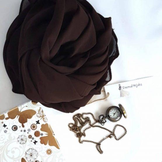 Chiffon Hijab Brown