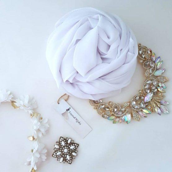chiffon hijab white