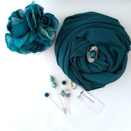 chiffon hijab Emerald