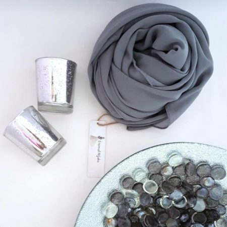 chiffon hijab grey