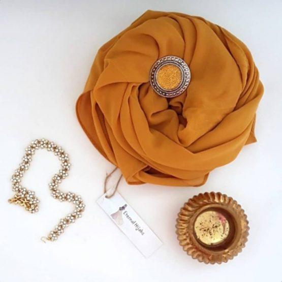 chiffon hijab Mustard