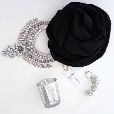 Chiffon Hijab Black