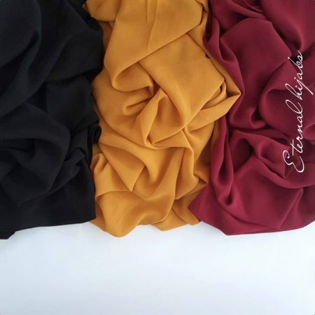 chiffon hijab bundle pebble