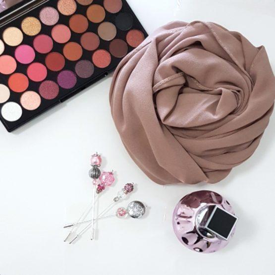 chiffon hijab mocha