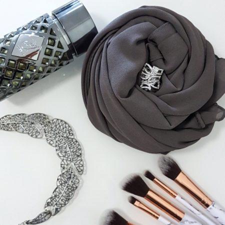 chiffon hijab charcoal