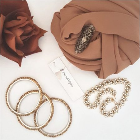 chiffon hijab camel