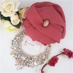 Crepe Chiffon Hijab Rouge
