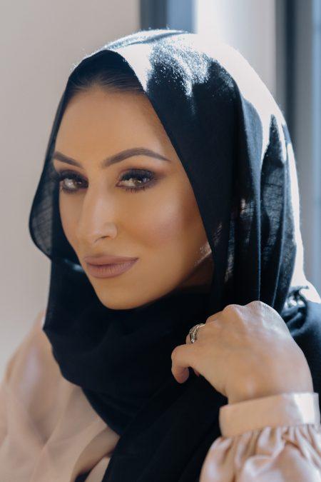 cotton candy hijab black