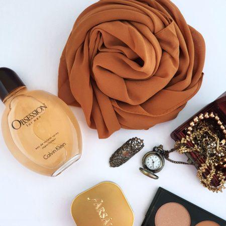 Crepe Chiffon Hijab Spice