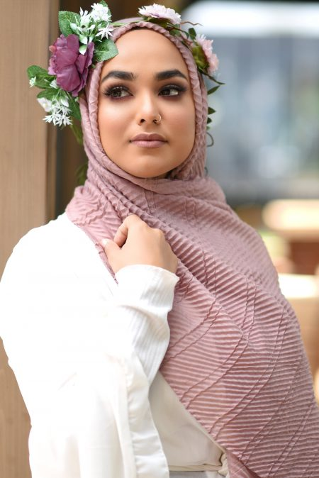 crinkle cotton hijab dusk