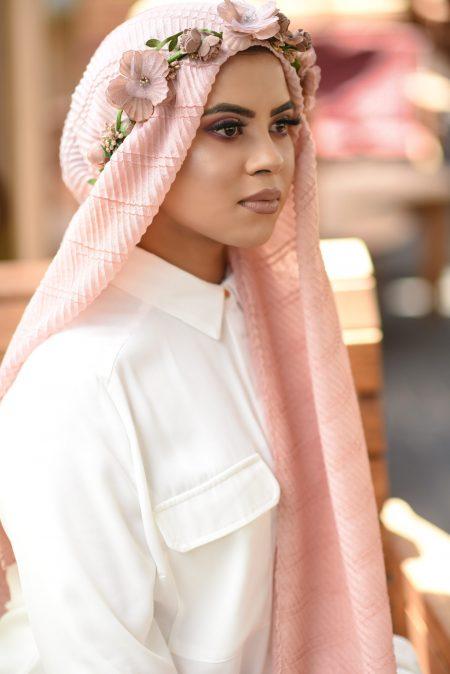 crinkle cotton hijab petal pink