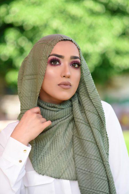 crinkle cotton hijab moss
