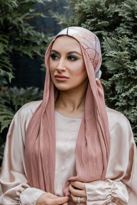 crinkle rayon hijab mink