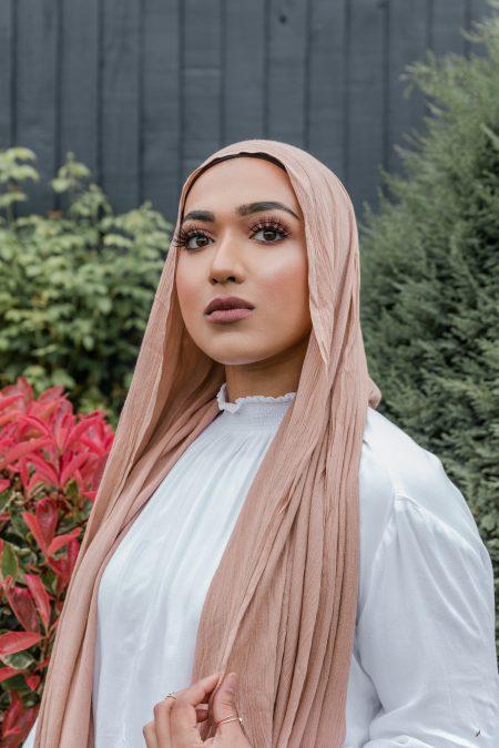 Crinkle Rayon Hijab salmon