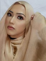 FAUX SILK HIJAB GOLD