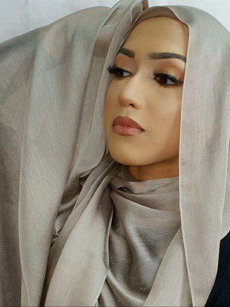 faux silk hijab platinum
