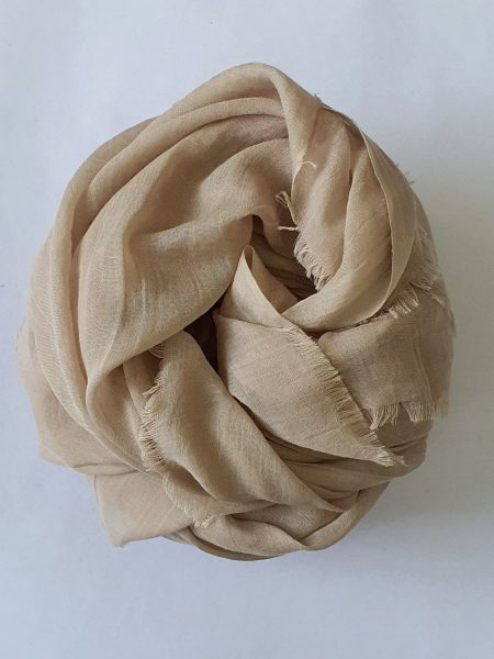 soft cotton hijab in wheat