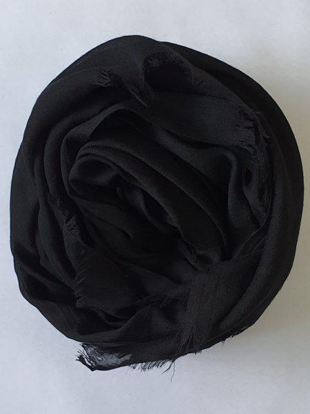 Soft Cotton Hijab Black