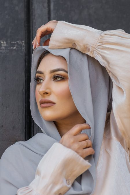 Krush Chiffon Hijab Pearl Grey