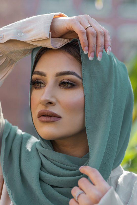 Krush Chiffon Hijab Totally Teal