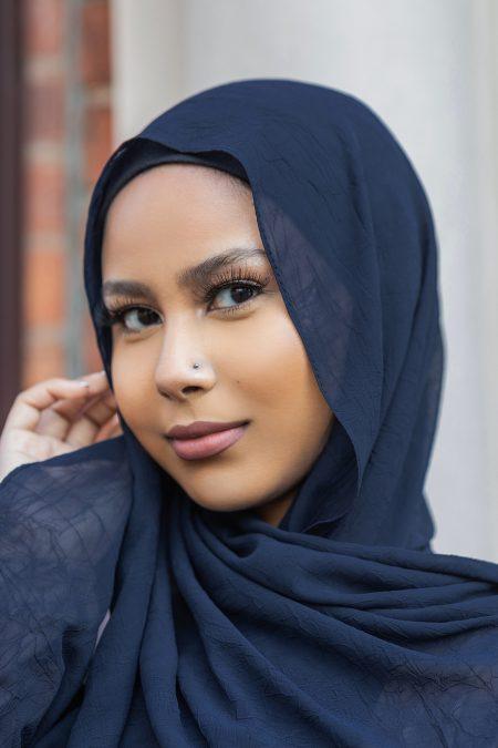 Krush Chiffon Hijabs Midnight Blue