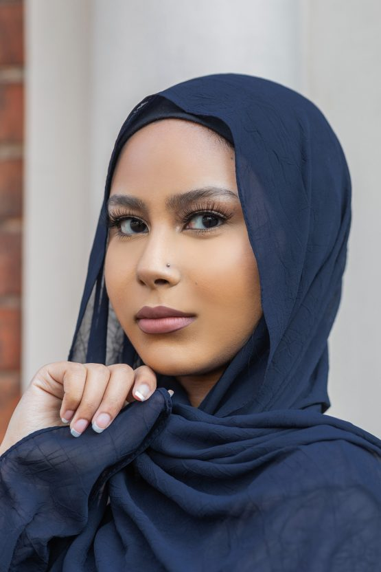 Krush Chiffon Hijab Midnight Blue