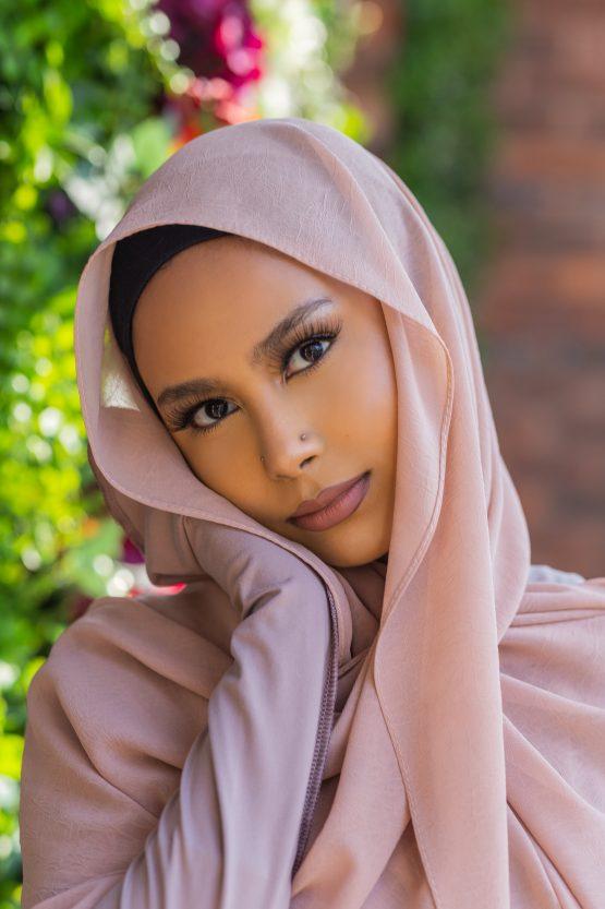 Krush Chiffon Hijab Soft Salmon