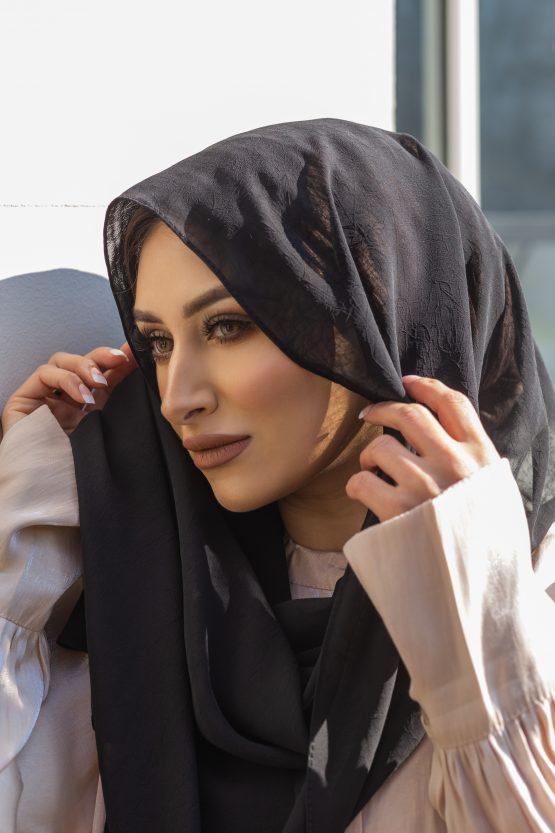 Krush Chiffon Hijab Pitch Black
