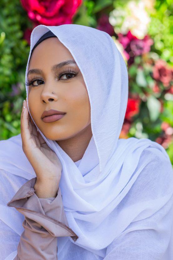 Krush Chiffon Hijab Angelic White