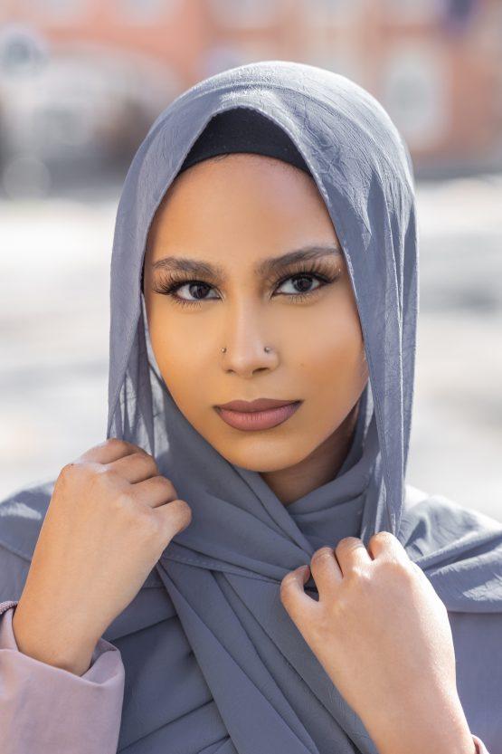 Krush Chiffon Hijab Slate Grey