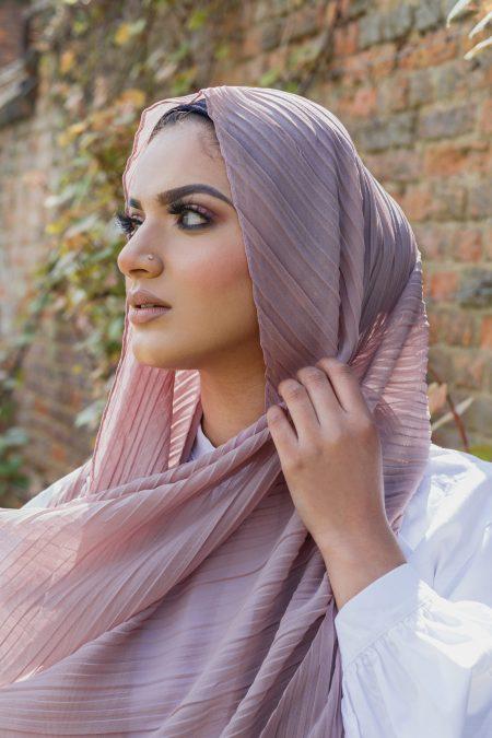 Regal chiffon hijab rose