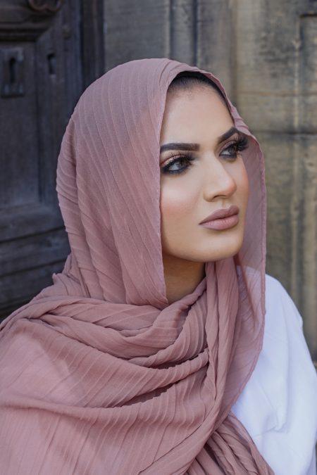 regal chiffon hijab blush