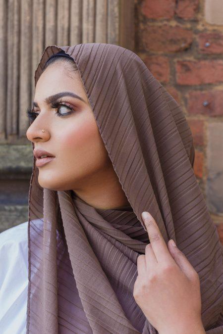 Regal chiffon hijab mocha