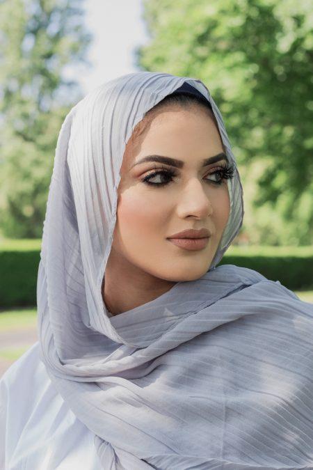 regal chiffon hijab soft grey
