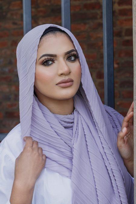 regal chiffon hijab lilac