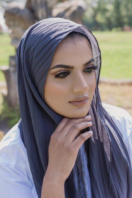 regal chiffon hijab charcoal