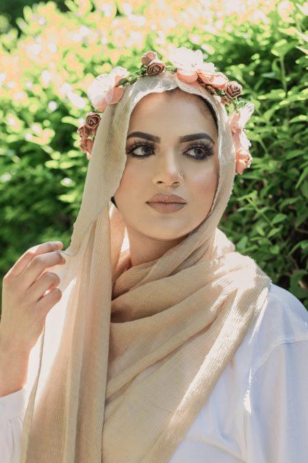 crimple cotton hijab sand