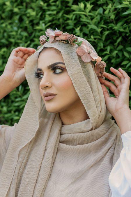 crimple cotton hijab Nude