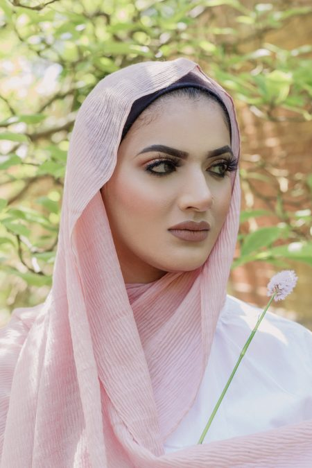 crimple cotton hijab rose