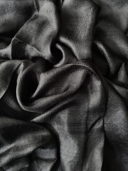 satin silk hijab black